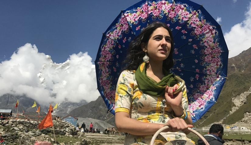 Sara Ali Khan in Kedarnath/Image from Twitter.