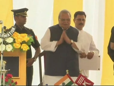Satya Pal Malik sworn-in as new Governor of Jammu and Kashmir in Srinagar, replaces NN Vohra