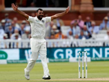 India pacer Mohammed Shami in action on Day 3 of the Lord's Test. AFP
