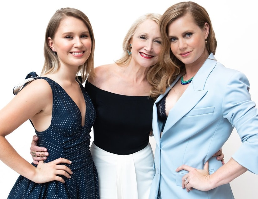 (From L-R) Eliza Scanlen, Patricia Clarkson and Amy Adams deliver blisteringly chilly performances in Sharp Objects. Image via Twitter