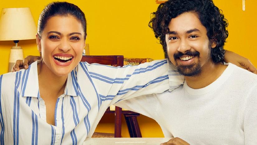 Kajol (left) with Riddhi. Helicopter Eela poster