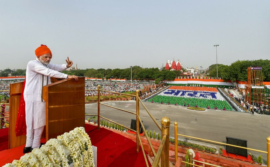 Making his last Independence Day address to the nation ahead of the 2019 Lok Sabha polls, Modi said there was
