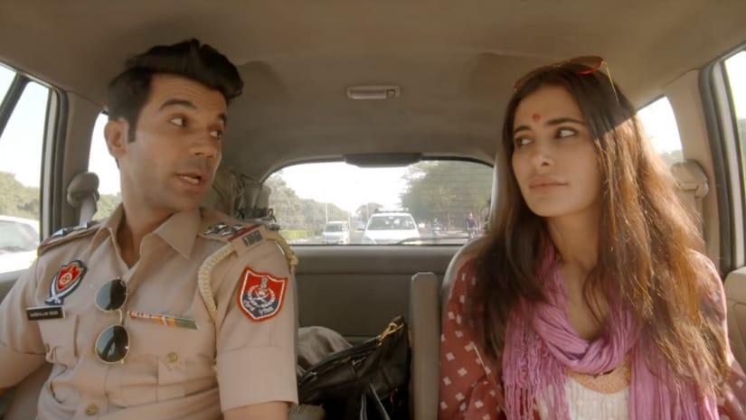 Rajkummar Rao and Nargis Fakhri in a still from 5 Weddings. YouTube