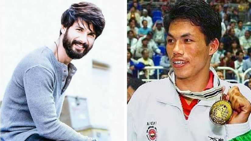 Shahid Kapoor (left), Dingko Singh (right). Images from Facebook