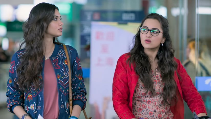 Diana Penty and Sonakshi Sinha in a still from Happy Phirr Bhag Jayegi. YouTube