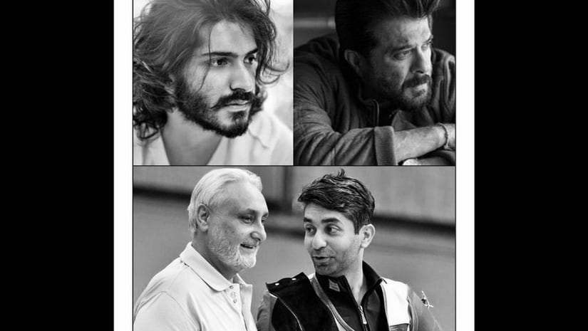 """Anil Kapoor (top right) will be seen as Harshvardhan""""s (top left) father in Bindra, a biopic on Abhinav Bindra (bottom right, seen with his father)"""
