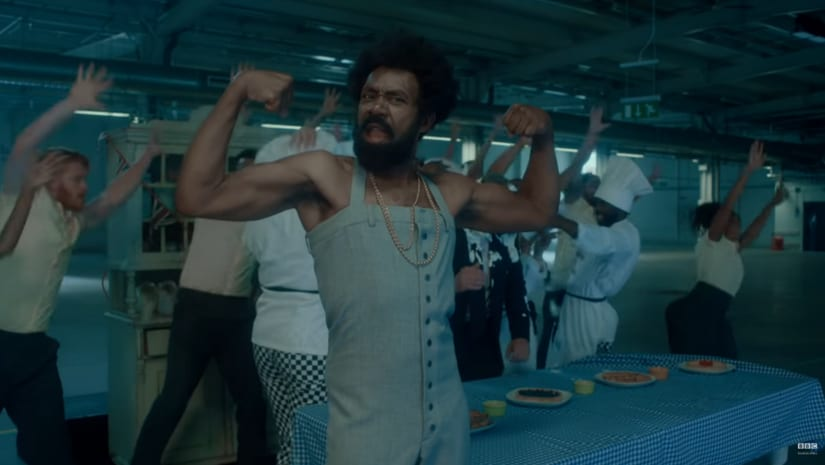 Still from Sir Henry's parody of This Is America. YouTube screengrab