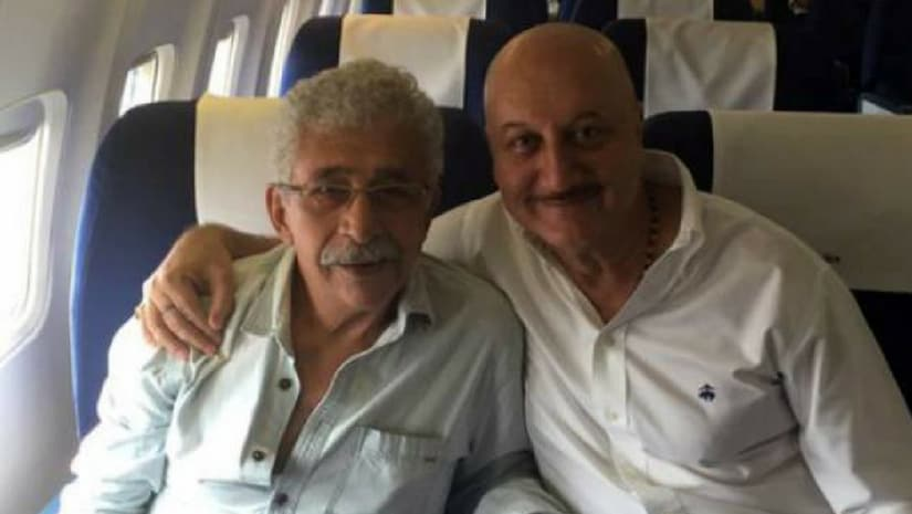 Naseeruddin Shah (left) and Anupam Kher (right). Image from Facebook