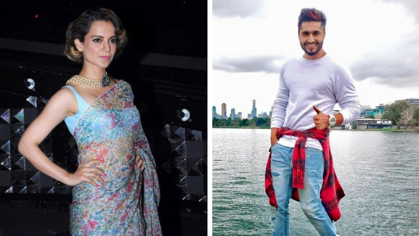 Kangana Ranaut (left), Jassi Gill (right). Images from Facebook
