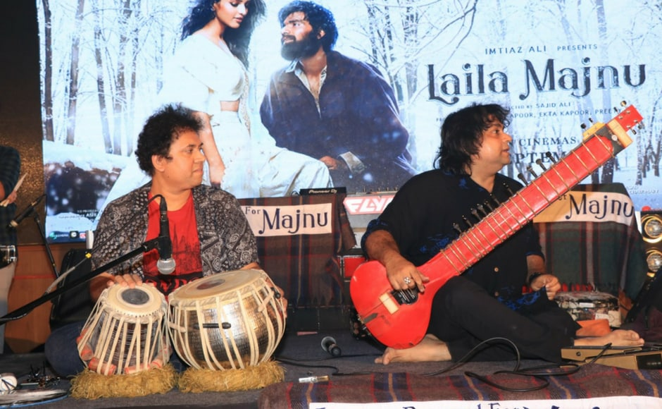 Musical maestro Niladri Kumar (right) performs on stage