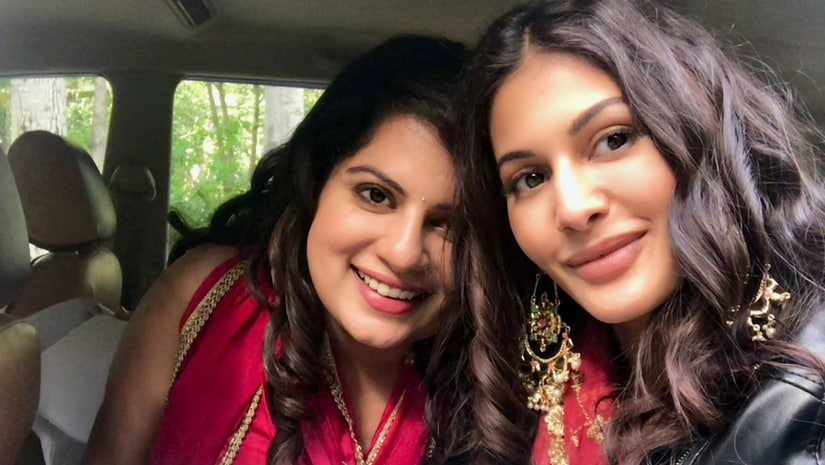 Mallika Dua (left) and Amyra Dastur (right) on sets of The Trip 2.