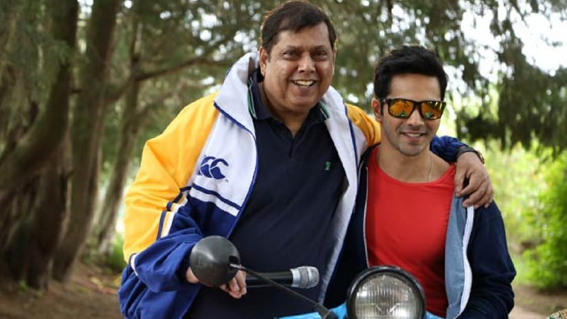 Varun Dhawan (right) with father David Dhawan (left). Image from Facebook