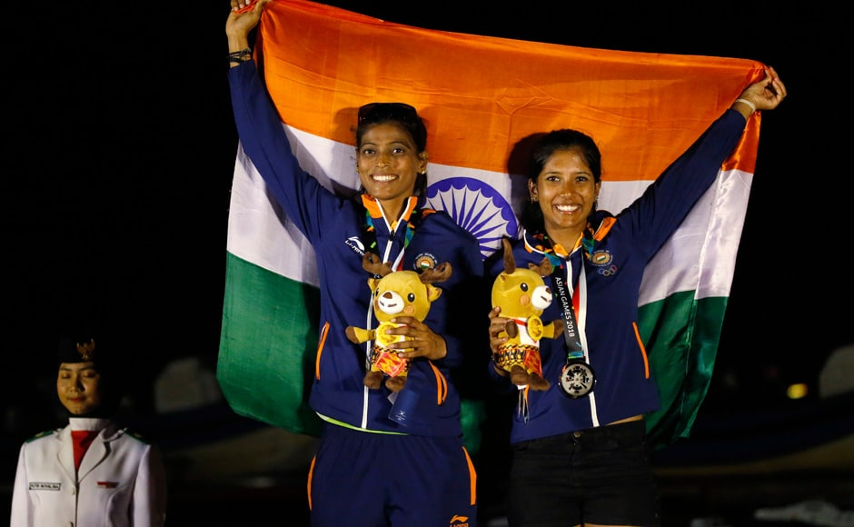 Varsha Gautham and Sweta Shervegar of India finished in second place and won a silver after fifteen races in the Women's 49ers FX category of sailing. Reuters