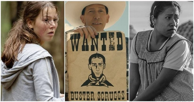(From L-R) Stills from Netflix's Golden Lion contenders: 22 July, The Ballad of Buster Scruggs and Roma. Image via Twitter