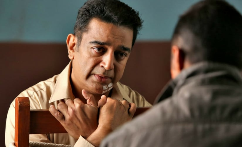 Kamal Haasana and Rahul Bose in a still from Vishwaroop 2/Image from Twitter.