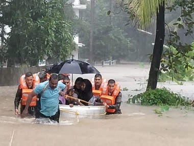 Rescue operations are on in full swing in Kerala amid heavy rain. Image Courtesy: Naveen Nair