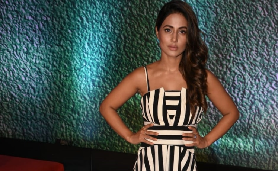 Ex-Bigg Boss contestant and Yeh Rishta Kya Kehlata Hai actress Hina Khan appear at the special screening of AltBalaji's Home