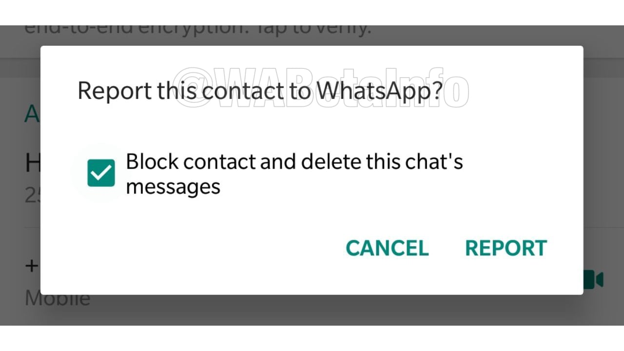 WhatsApp's report feature gets a new layout. WaBetaInfo.