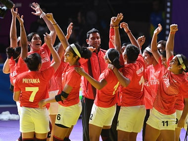 File image of Indian women's kabaddi team. AFP