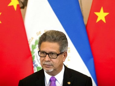 El Salvador's Foreign Minister Carlos Castaneda attends a signing ceremony to mark the establishment of diplomatic relations between El Salvador and China in Beijing. AP
