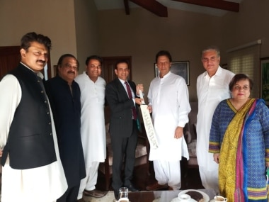 Indian High Commissioner Ajay Bisaria meets Imran Khan, gifts him cricket bat signed by Indian team