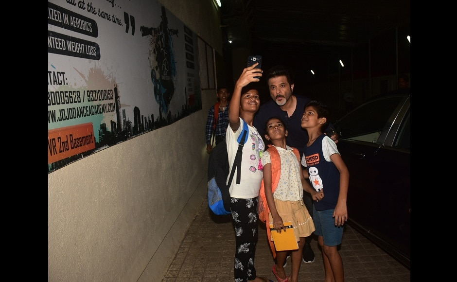 Anil Kapoor also took some time out to click selfies with fans