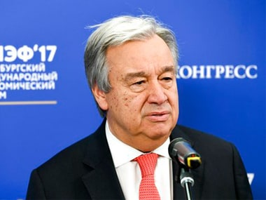 File photo of UN Secretary General Antonio Guterres. AP