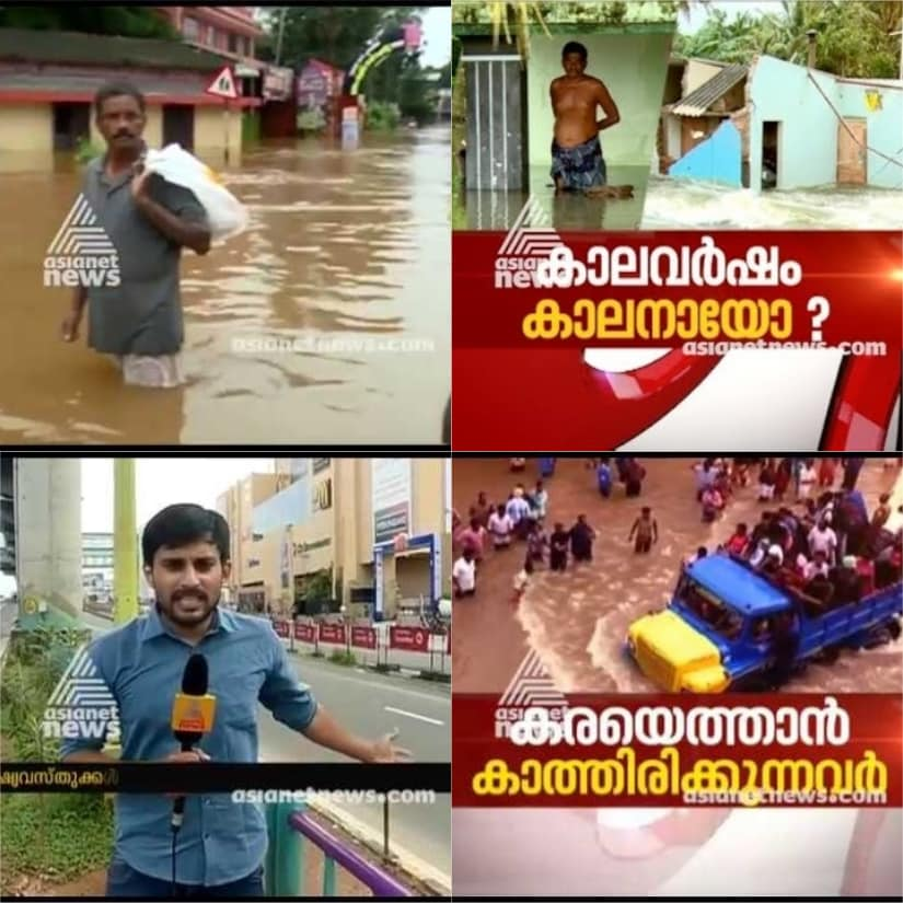 Asianet News' coverage of the Kerala floods