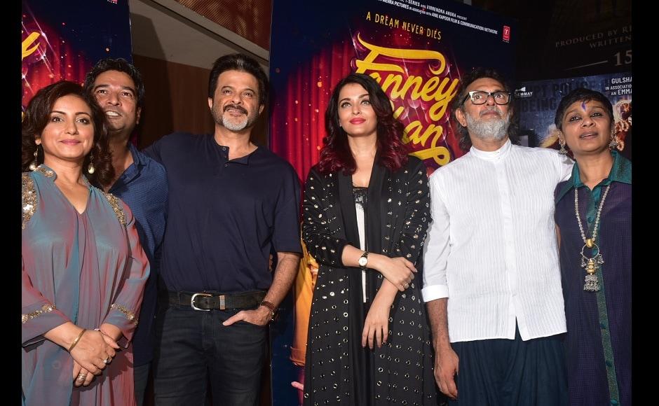 Divya Dutta, director Atul Manjrekar, Anil Kapoor, Aishwarya Rai and producer Rakeysh Omprakash Mehra at the screening
