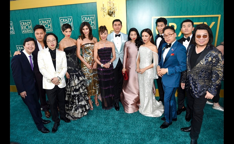 The cast and crew of Crazy Rich Asians. AP