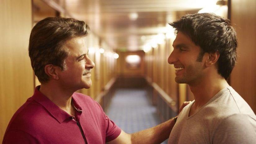 Anil Kapoor and Ranveer Singh in a still from Dil Dhadakne Do. YouTube