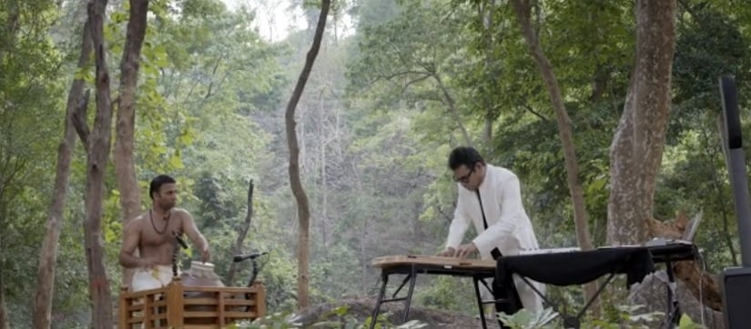 Sajith and AR Rahman in a still from Harmony