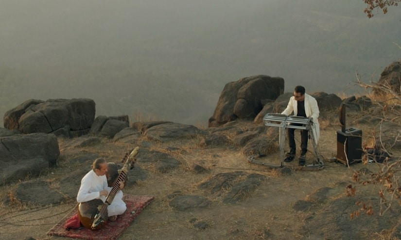 and AR Rahman in a still from Harmony