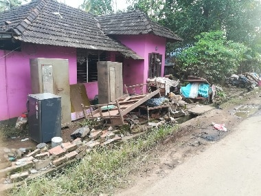 As flood water recedes, the damage to homes becomes more visible. Firstpost/Dinesh Unnikrishnan