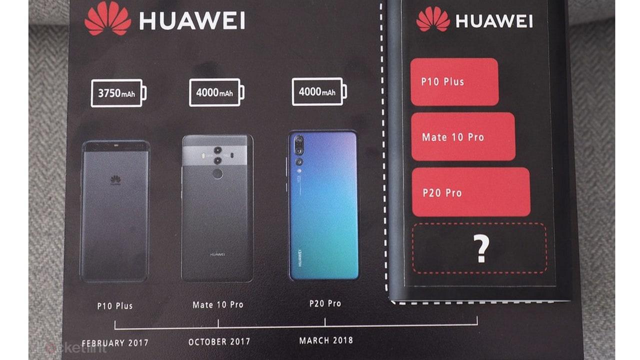 Huawei Mate 20 Pro teaser flier. Image: Pocket Lint