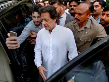 File image of PTI chief Imran Khan. AP