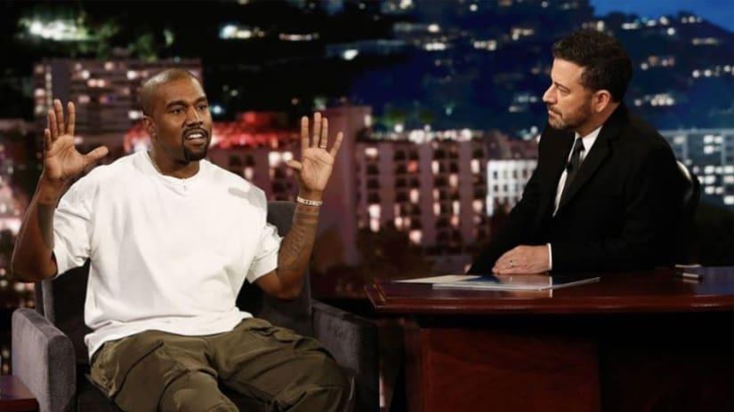 Kanye West on Jimmy Kimmel Live! /Twitter @2DopeBoyz