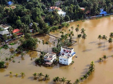 A file photo of a submerged town in southern Kerala as the floods claimed over hundreds of lives.