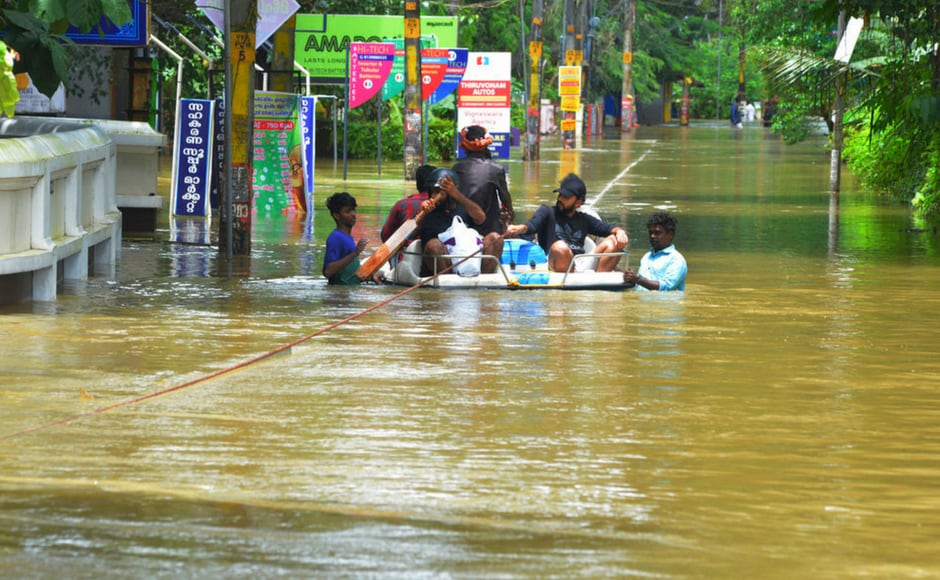 Since 8 August when the rains began pounding the southern state, around 2.40 lakh persons have been lodged in 1,568 relief camps across Kerala. AP