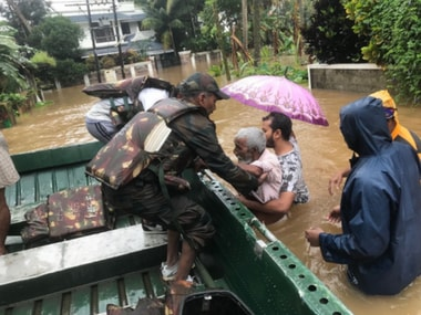 Rescue operations in flood-hit Kerala. Twitter@PIB_India