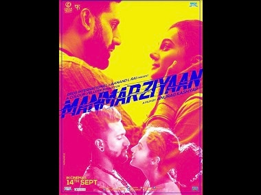 Manmarziyaan poster hints at love triangle between Abhishek Bachchan, Taapsee Pannu, Vicky Kaushal