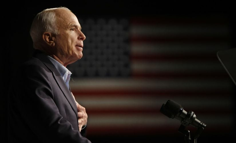 McCain spent more than three decades in the Senate, looming large in debates over war and peace and the moral direction of the nation. AP