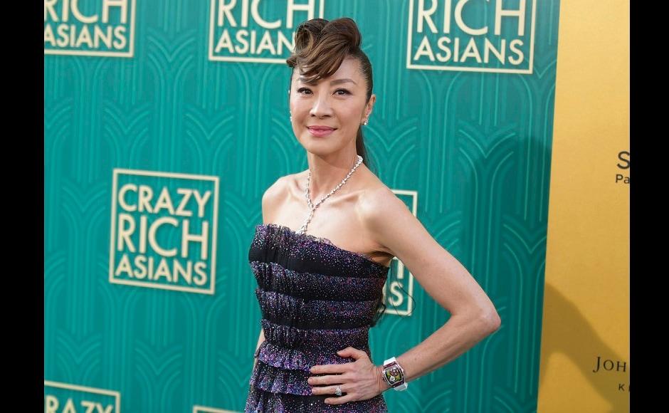 Michelle Yeoh arrives at the premiere of Crazy Rich Asians. AP