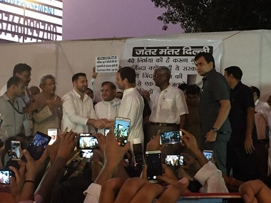 Rahul Gandhi was also present at the RJD-led protest against Bihar shelter home rape cases. Firstpost