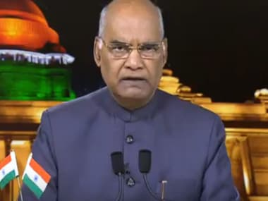 President Ram Nath Kovind during his address on the eve of 72nd Independence Day. Screengrab from Youtube
