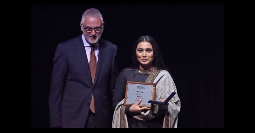 Rani Mukerji won the Best Actress award for Hichki and was also honoured with an 'Excellence In Cinema' award at IFFM 2018. Twitter @Rani_MukerjiFC