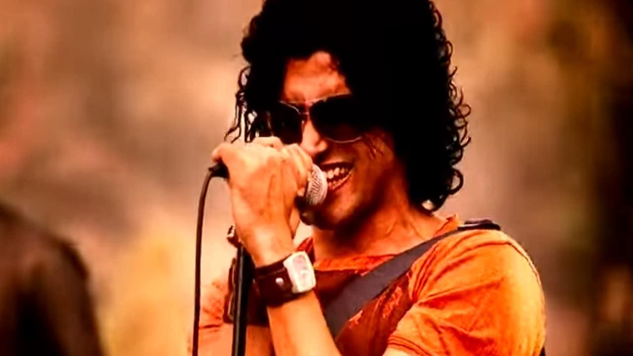 Farhan Akhtar in a still from Rock On!!