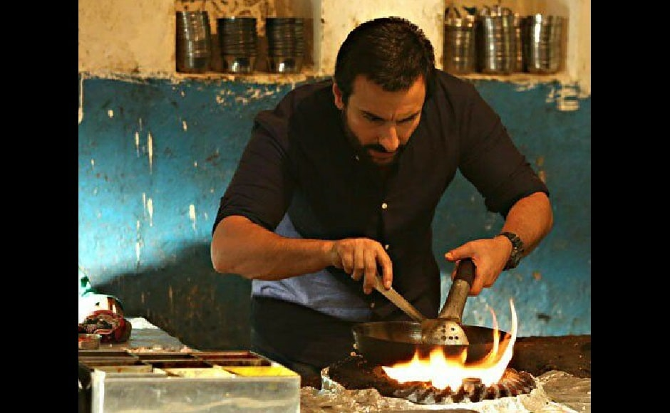 Raja Krishna Menon's Chef, the official Hindi remake of the American film of the same name. Saif Ali Khan played a culinary expert who rediscovers his passion for food after he is expelled from his restaurant job. Facebook/@SaifUpdates