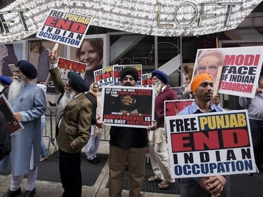 A protest organised by Sikhs for Justice. File image. Reuters