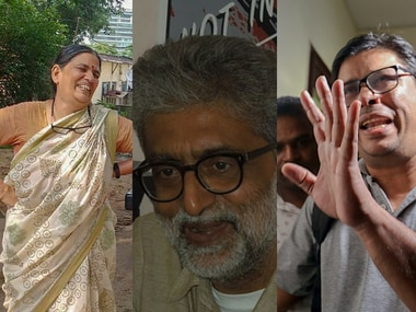 Sudha Bharadwaj, Gautam Navlakha, and Arun Ferreira, who were arrested by the Maharashtra Police for their suspected Maoist link. Image courtesy: PTI and Wikimedia Commons